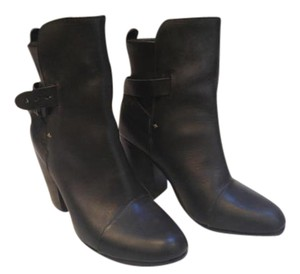 Rag & Bone Kinsey Black Leather Boots