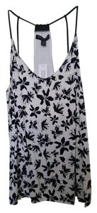 Banana Republic Floral Date Night Classic Top Black and White