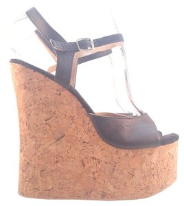Tony Shoes INC Platform Wedge Black Platforms