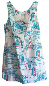 Lilly Pulitzer short dress White, blue, pink on Tradesy