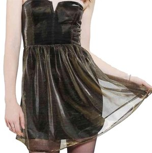 Urban Outfitters short dress Gold Translucent Lucca Collection on Tradesy