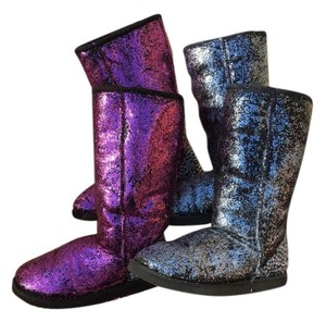 Custom Designed UGG Boots Pink and silver Boots