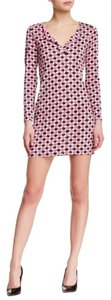 Diane von Furstenberg short dress Pink Dvf Silk Tunic Print on Tradesy