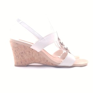 AK Anne Klein White Wedges