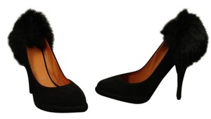 Givenchy New Classic Style Small Platform Rounded Point Toe Black Pumps