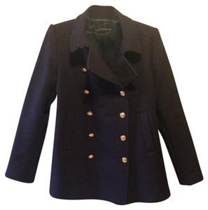 Zara Gold Hardware Wool Winter Pea Coat