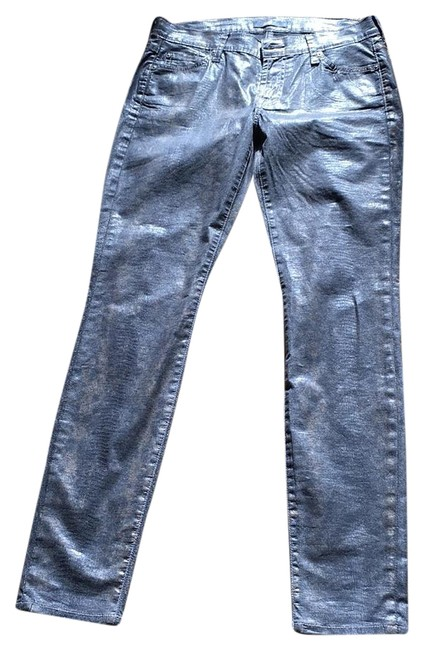 Item - Gray Black with Gold Tone Straight Leg Jeans Size 27 (4, S)