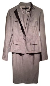 Elie Tahari Elie Tahari Designer Two Piece Dress And Suit Jacket Gray Wool