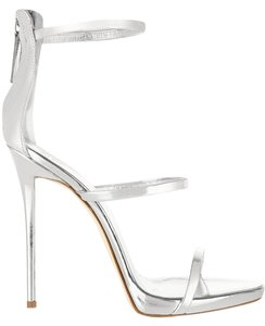 Giuseppe Zanotti Platform Sandal Night Out Silver Sandals