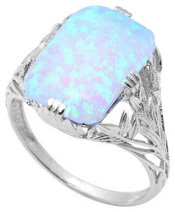 9.2.5 Stunning antique style large opal ring size 8