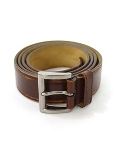 Prada Prada Brown Distressed Leather Belt sz 85