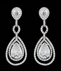Aaa Cz Bridal Earrings