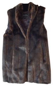 Donna Salyers Faux Fur Faux Brown Faux Fur Brand New Vest