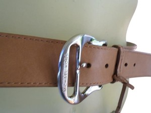 Michael Kors Michael Kors luggage brown Leather Belt, Size Medium