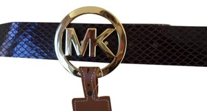 Michael Kors Michael Kors Chocolate brown Buckle MK logo belt