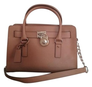 Michael Kors Classic Structured Timeless Leather Satchel in Peanut