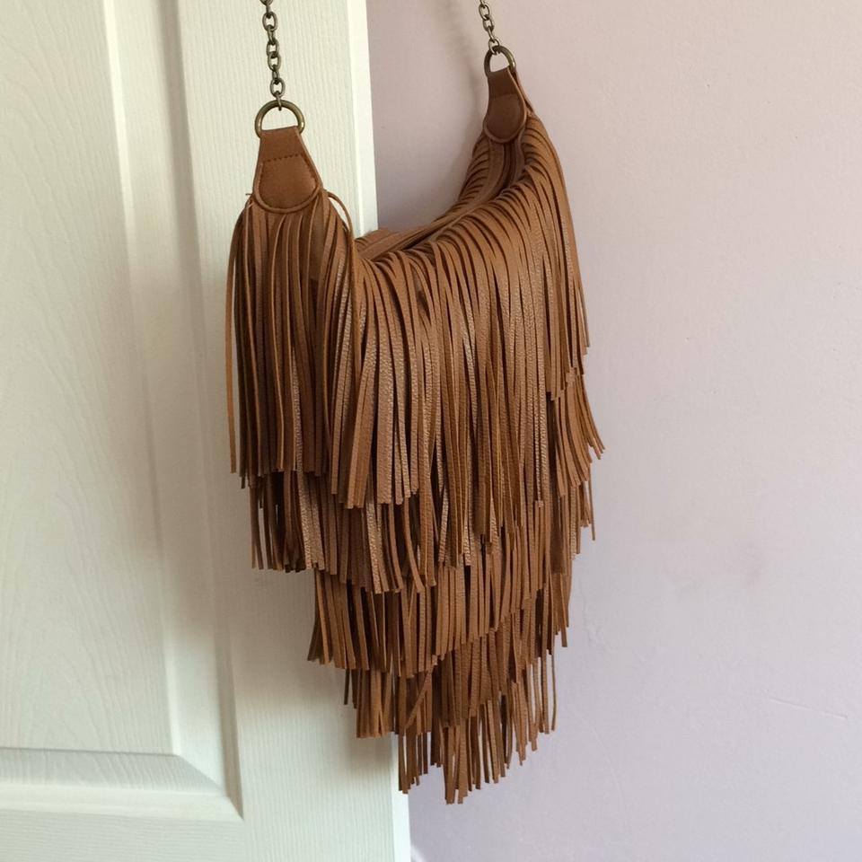 Mossimo Supply Co. Fringe Cognac Cross Body Bag - Tradesy 5858f59eacf25