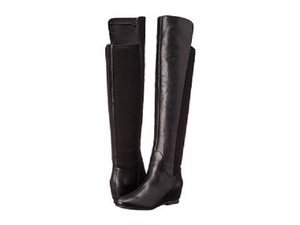 Nine West Leather Over The Knee black Boots