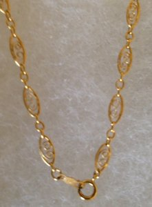 Other 14 K Gold Filigree necklace