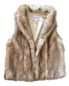 BCBGeneration Fur Faux Fur Tan Vest