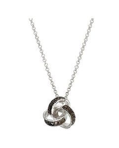 Victoria Townsend Victoria Townsend Sterling Silver & Black Diamond Love Knot Necklace