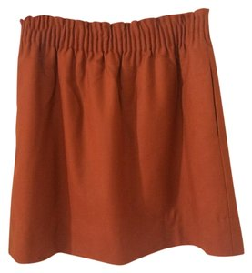J.Crew Wool Mini A-line Mini Skirt Rust