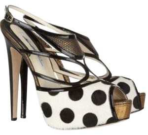 Brian Atwood Heels Platform Black and White Platforms