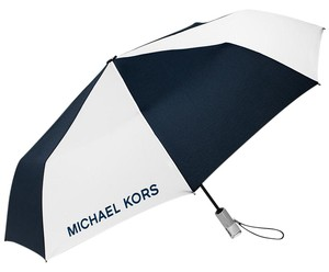Michael Kors Michael Kors Automatic Umbrella NWT! Navy/White/Silver-Lucite Handle!