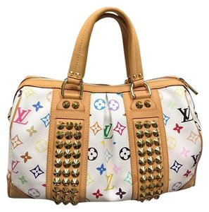 Louis Vuitton Tote in white/ multicolor