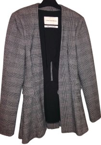 Twenty8Twelve Houndstooth Plaid Pleated Blazer