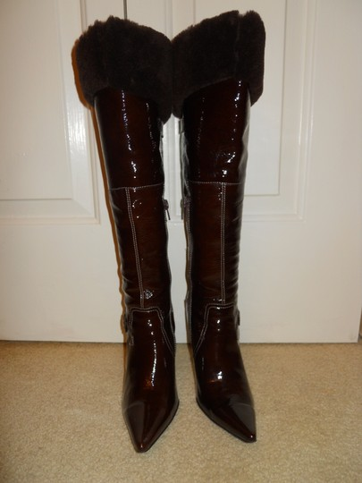 Luichiny Leather Fur Hc brown Boots