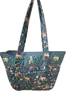 Vera Bradley Tote in Multi Colored Jungle Print Earth Tones