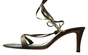 Saint Laurent Tom Ford Era Satin Ballerina Army Green Olive Green Sandals
