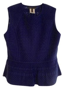BCBGMAXAZRIA Knit Peplum Bcbg Top Royal Blue