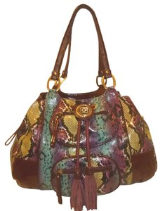 Sharif Nwt X-lg Python Satchel Hobo Bag