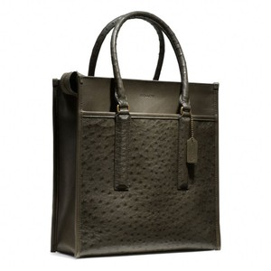 Coach Leather Tote Ostrich Shoulder Bag