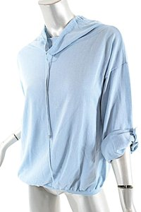 Akris Punto Baby Blue 100% Cotton Cardigan