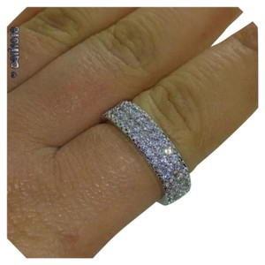 Other New Full Multi Row White Topaz 10k GF Eternity Band