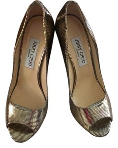 Jimmy Choo Gold Metallic Wedges