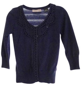 Kersh Blue Crop Half Sleeve Cardigan