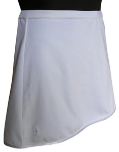 Ralph Lauren Pony Stretchy Short Mini Skirt White