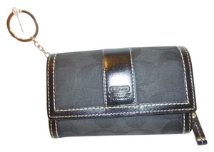 Coach Black Monogram Wallet Small