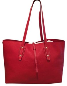 J.McLaughlin Leather Tote in Red