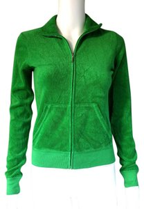 Juicy Couture Terry Kelly Zip Front Green Jacket
