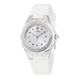Michele Michele Petite Tahitian Jelly Bean Topaz White Silver Watch