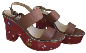 Coach Natural/Red Sandals
