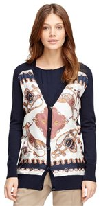 Brooks Brothers Silk Scarf Signature Equestrian Sweater