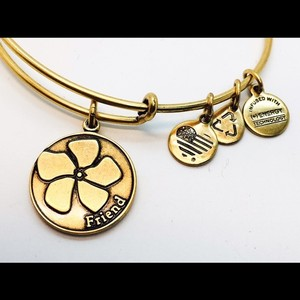 Alex and Ani Alex and Ani Friend wrap bangle gold color New with no tags