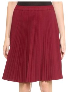 Club Monaco Pleated Skirt Red