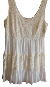 Speechless short dress Cream - Ivory Nwt Juniors Size Large Size 8-10 Shabby Chic Baby Doll on Tradesy